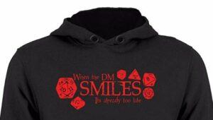 when the Dm smiles dnd hoodie