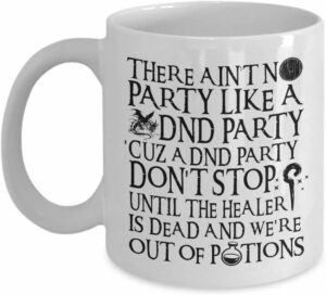 dnd party mug coffee