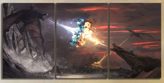 game of thrones fire and ice wall art