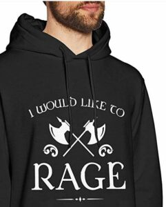 dnd hoodie i would like to rage