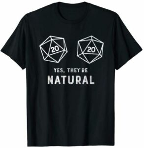 natural 20s dnd shirt