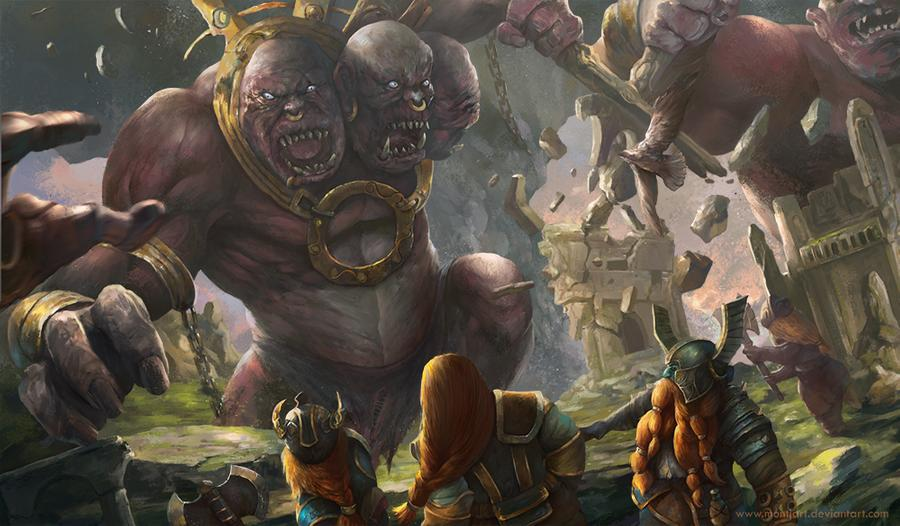 dwarves war giants ettins