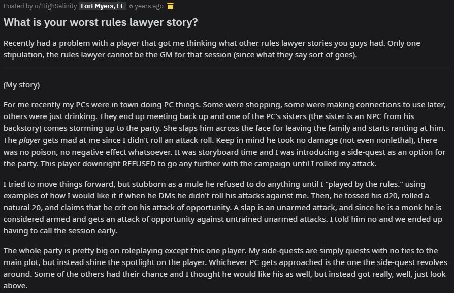worst rules lawyer